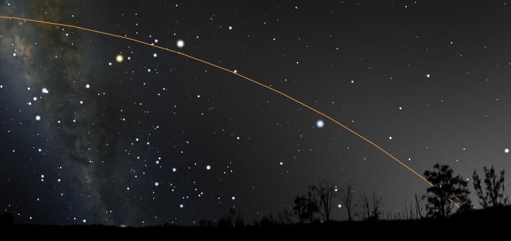 Stellarium: зодиакальный свет